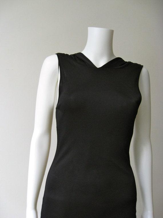 Sexy Vintage  Black Dolce & Gabbana Hooded Dress