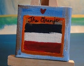 Mini love for Netherlands football sport canvas and easle