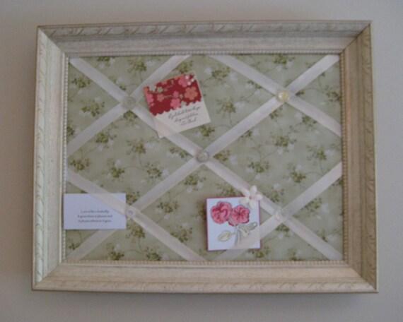 Photo Memory Board Framed French Memo Board Vintage Crystal