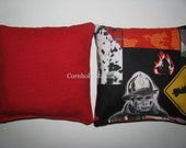 Firefighter Fireman  Rescue Squad Cornhole Corn Toss Bean Bag Baggo Bags Set of 8