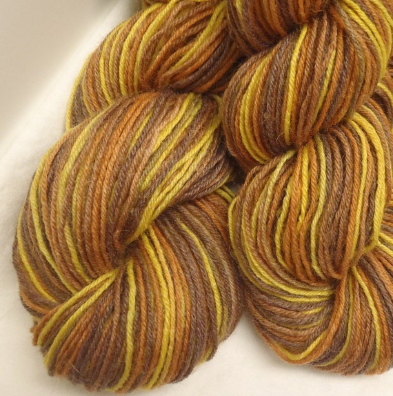 November Leaves - Hand Dyed Fingering Sock Weight Yarn - Superwash Merino Bamboo Nylon Blend