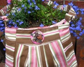 Palmer Lake Shoulder Bag in Brown and Pink Stripes