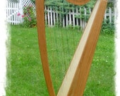 33 String Voyageur Folk Floor Harp Solid Cherry Wood - Customization Available