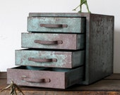 Vintage Industrial Drawer Mini Cabinet