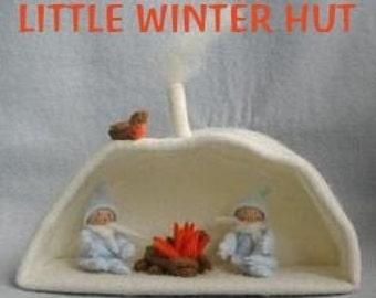 """Custom Listing for Little Winter Hut Kit and Wool Felt for """"whimsygal"""""""