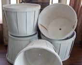 Rustic White Farmers Market Baskets / Planters for Wedding or Reception