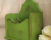 Upcycled Mail Organizer in Green Fern