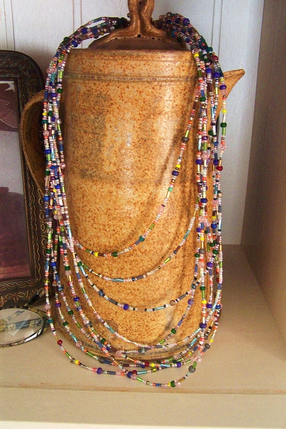 Groovy Love Beads Nine Strand Beaded Necklace