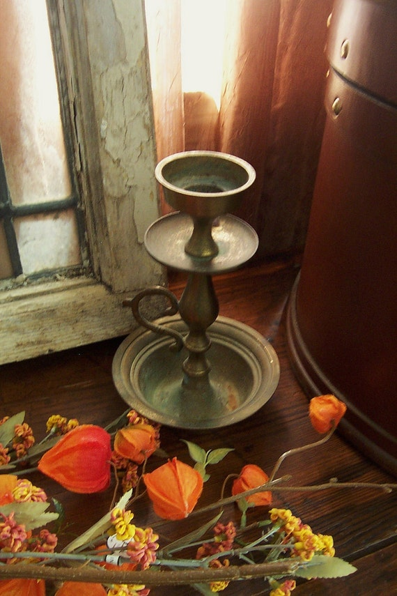 Rustic Relic Brass Candle Holder - Made in India