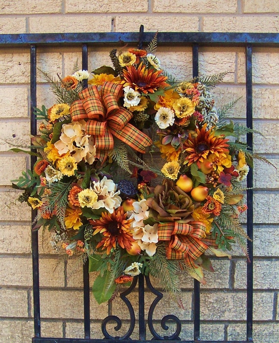 Spiced Pears French Country Wreath  / Tuscan Wreath / Fall Wreath