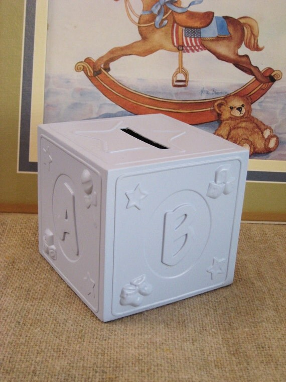 REDUCED ABC Block Bank for Baby