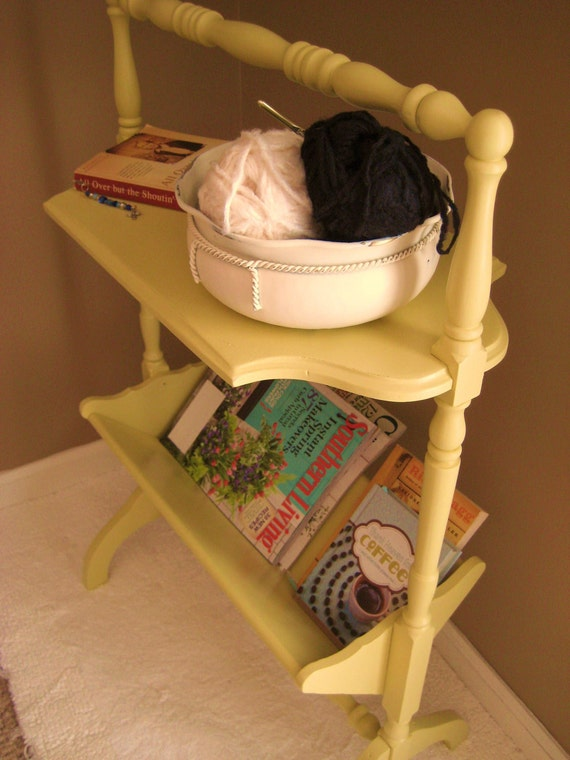 Upcycled Magazine Table / Side Table / End Table / Night Stand