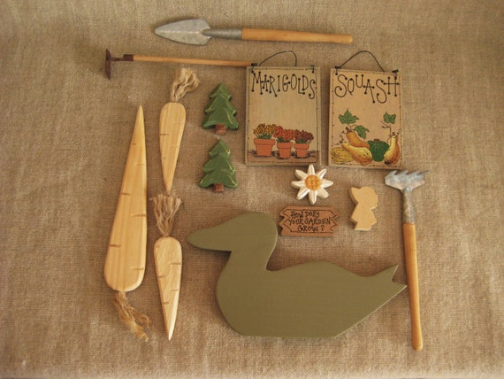 Craft Wood - Assorted Gardening Tools, Cut-Outs Craft Wood