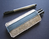 Pen Case (Heather Natural Grey) & free domestic shipping