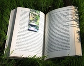 Handmade Magnetic Bookmark, Photograph Print, Woodland, Fairy Forest, Natural History, Green moss