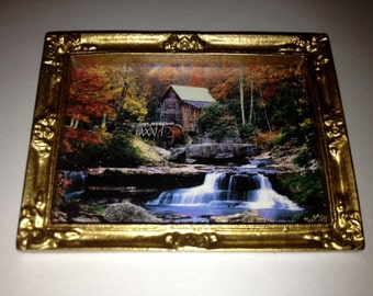 Miniature framed picture