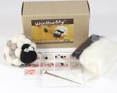 Needle felting small sheep kit