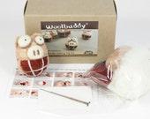 Needle felting pig kit