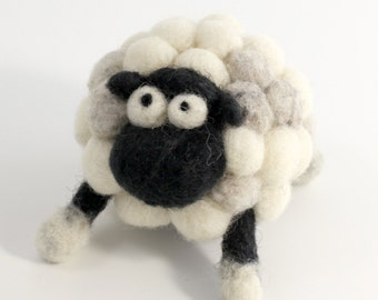 Needle felting small sheep kit