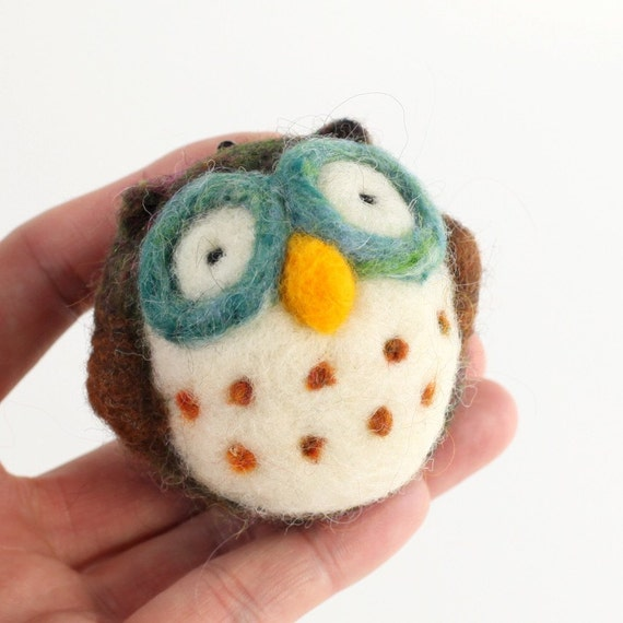 image diy needle felting kit tutorial owl