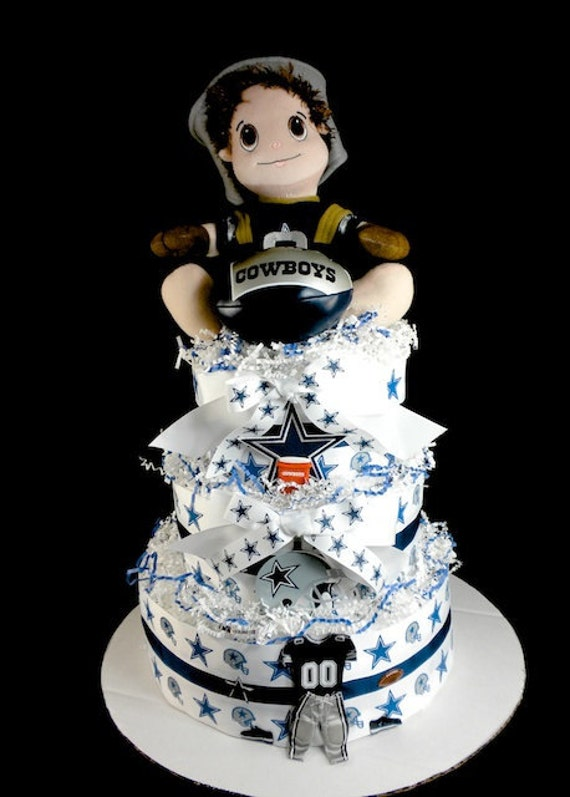 items similar to diaper cake 3 tier dallas cowboy baby boy baby shower