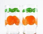 Orange Juice Glasses, Set of 2
