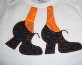 Witch Boots Onsie, orange