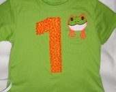 Tree Frog Inspired Applique T-shirt