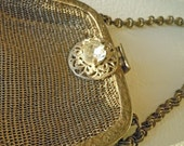 Silver Edwardian Antique Purse to benefit French Bulldog Rescue