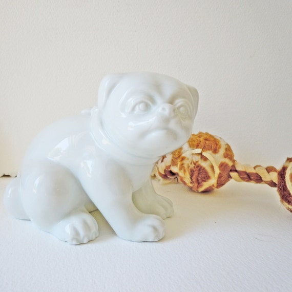 Vintage Fitz and Floyd Bulldog Pug Figurine to benefit French Bulldog Rescue
