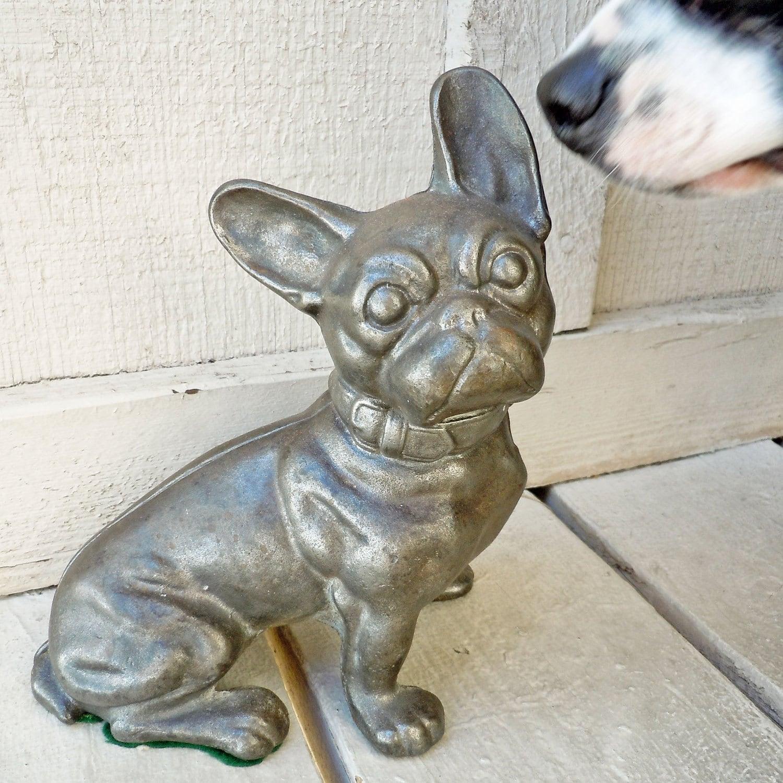 Vintage cast iron hubley french bulldog doorstop to benefit - Cast iron doorstop ...