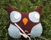 Whimsical Woodland Owl Ring Bearer Pillow -  Wedding Accessory