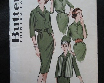 CLEARANCE Vintage 1960 Classic Belted Sheath Dress Butterick Pattern 9068 Size 14