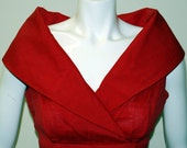 RESERVED Vintage 1960s Designer Howard Wolf for Neiman Marcus Red Shantung Mad Men Dress