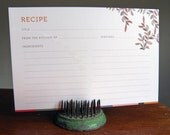 12-Floral Recipe Cards
