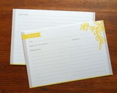 24-Yellow Vine Recipe Cards