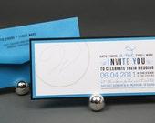 Bold, Modern, Contemporary, Typographic Invitation