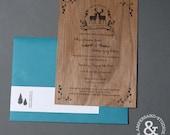 Woodland Creature Wedding Invitation