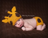 Download PDF crochet pattern - Giraffe beanie and diaper cover