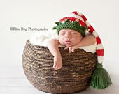 Download PDF crochet pattern 025 - Christmas Elf hat with bells - Multiple sizes from newborn through 12 months