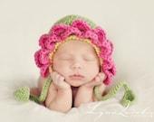 Download PDF crochet pattern 037 - Flower bonnet