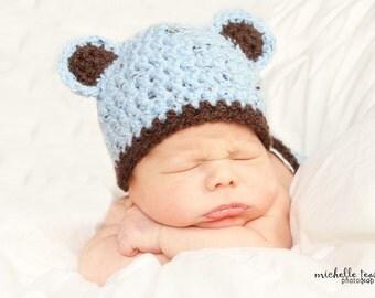Download PDF crochet pattern 008 - My Little Bear hat - Size 0-3 months