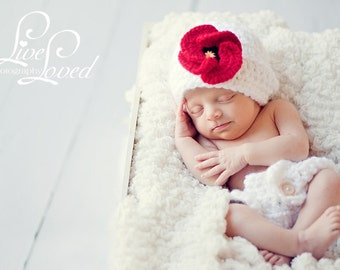 Download PDF crochet pattern - My Little Flower hat and diaper cover