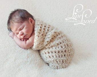 Download PDF crochet pattern s006 - Newborn Chunky cocoon