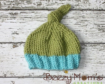 Download PDF knitting pattern k-18 - Newborn Knot hat