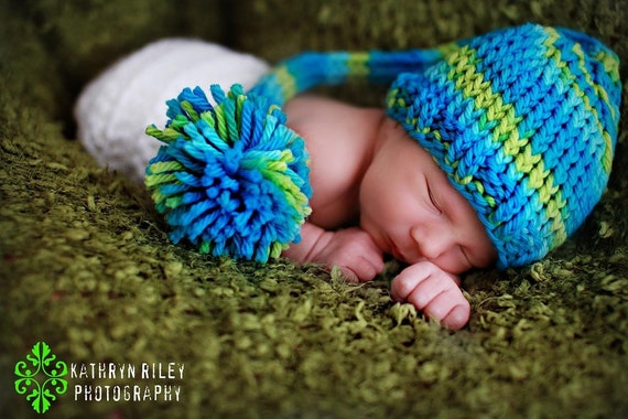 Download PDF knitting pattern k-07 - Knit Newborn Pixie hat