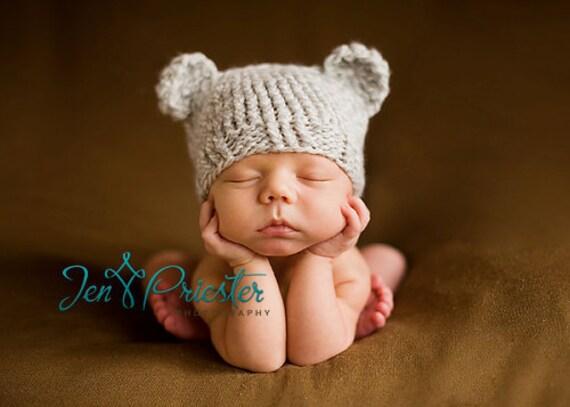 Download PDF knittingpattern k-01 - Newborn Baby-bear hat