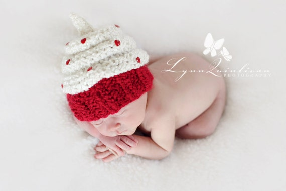 Download PDF KNITTING PATTERN k-13 - Newborn Cupcake hat