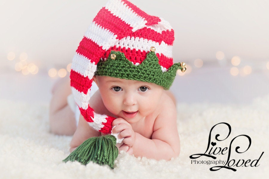 Download PDF crochet pattern 025 Christmas Elf hat with