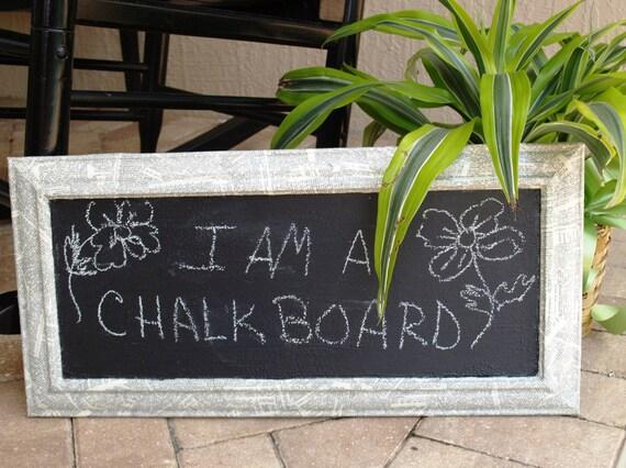 Repurposed frame chalk board decoupage dictionary chalkboard